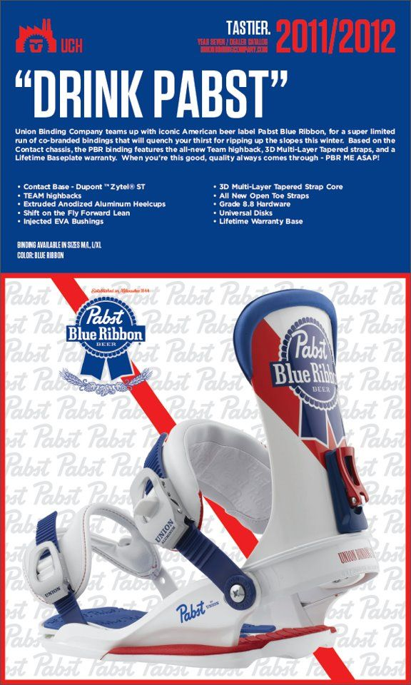 Pbr Bindings Pabst Blue Ribbon Snowboard Bindings Pbr