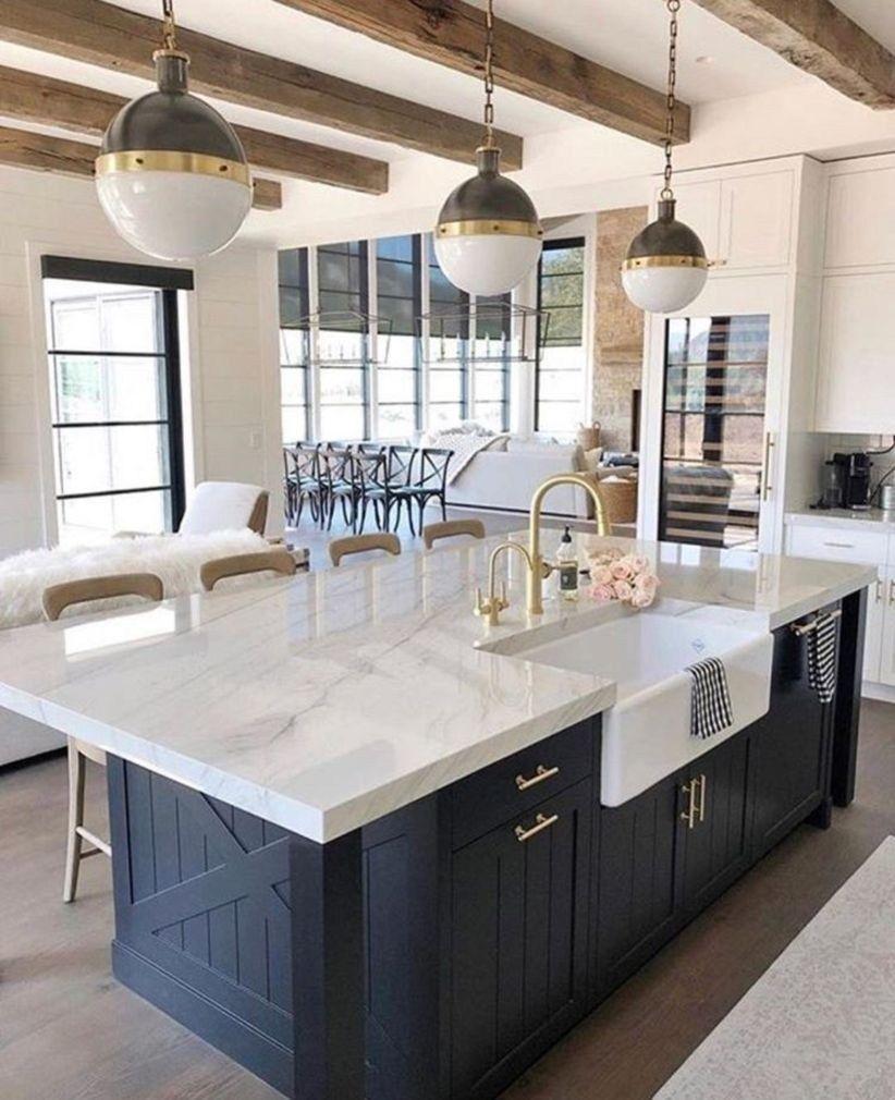41 popular white kitchen navy island ideas  farmhouse