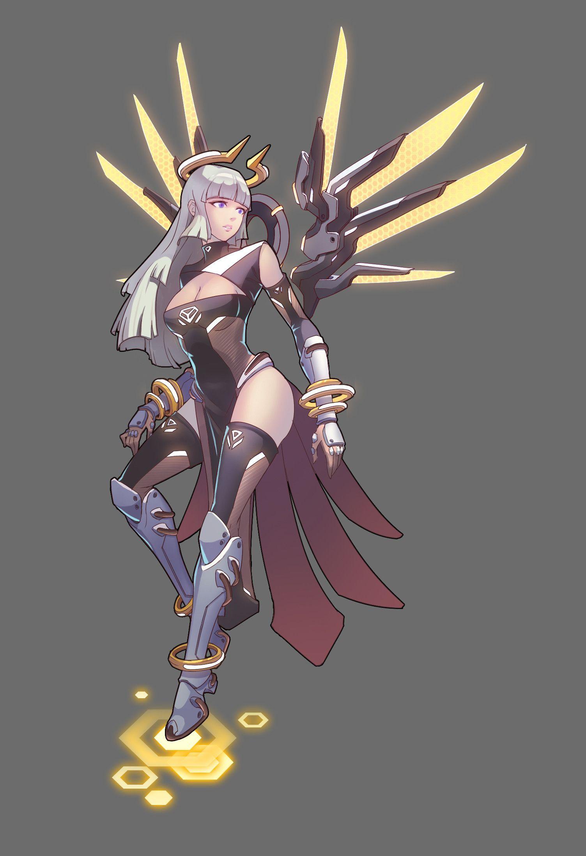 ArtStation Angel, Jie Zhu Concept art characters