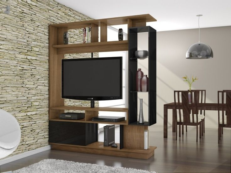 Rotating Tv Rack Deco Stand Room Divider Shelf Furniture