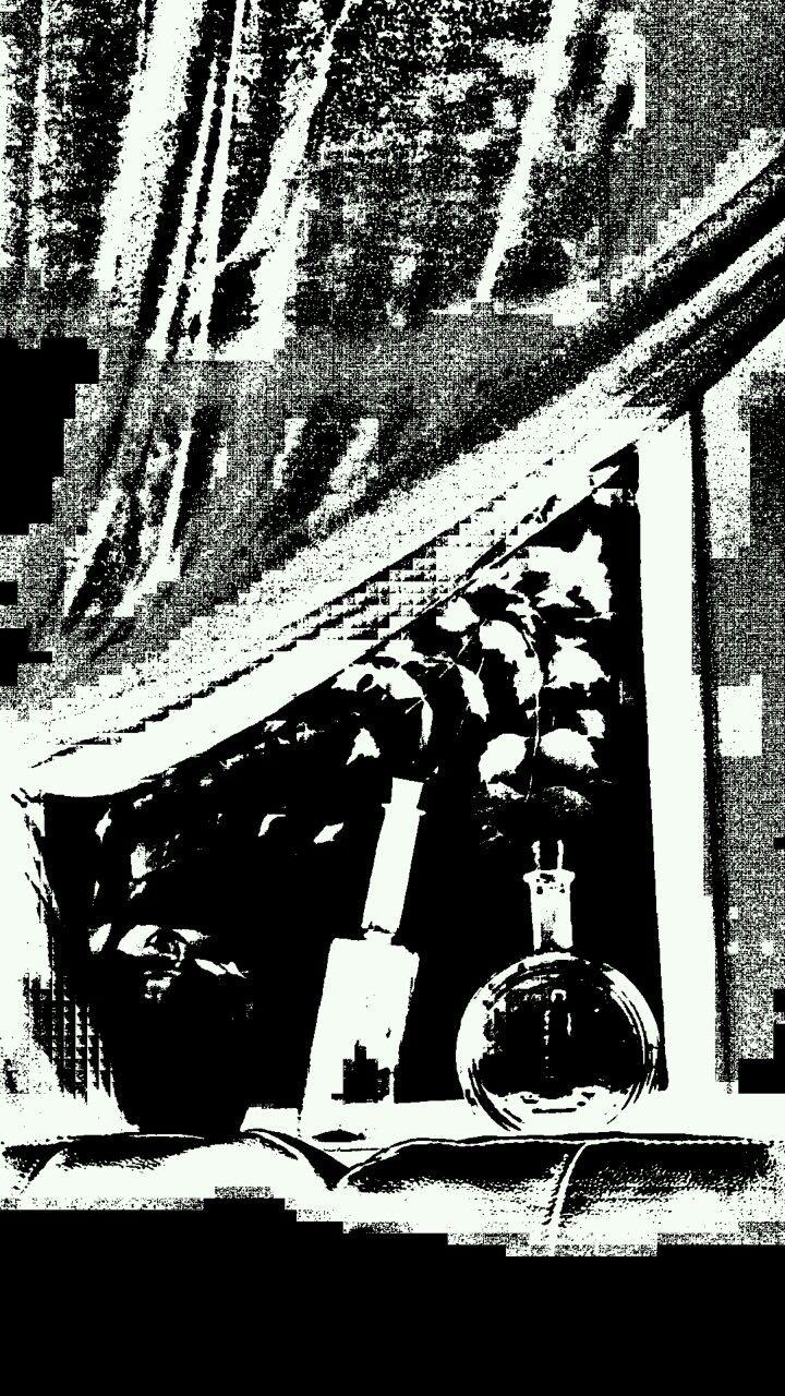 Nevaeh's black and white photo