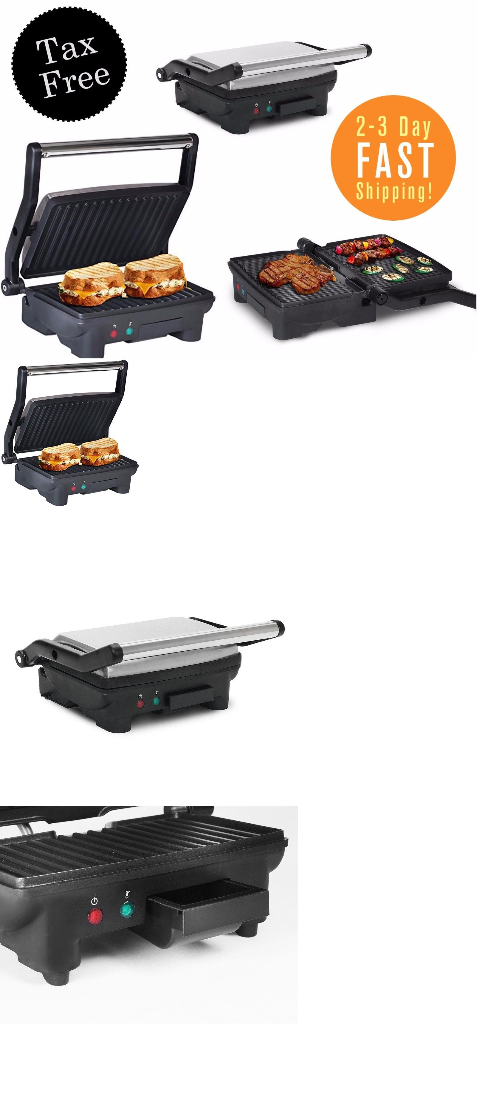 Grills and Griddles 20675: Large Electric Panini Sandwich Maker Open ...