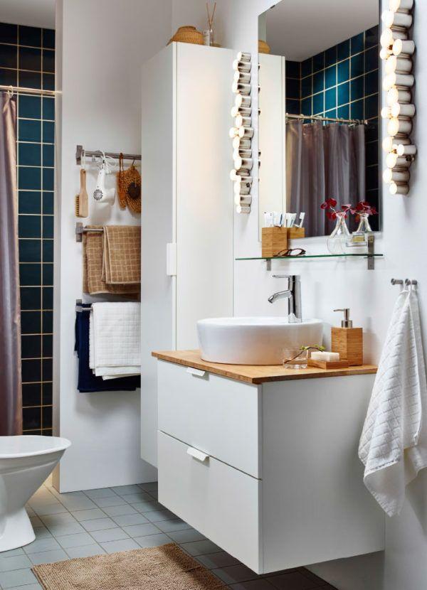Ideas de baños pequeños con ducha 2016 Los muebles colgantes - muebles de pared