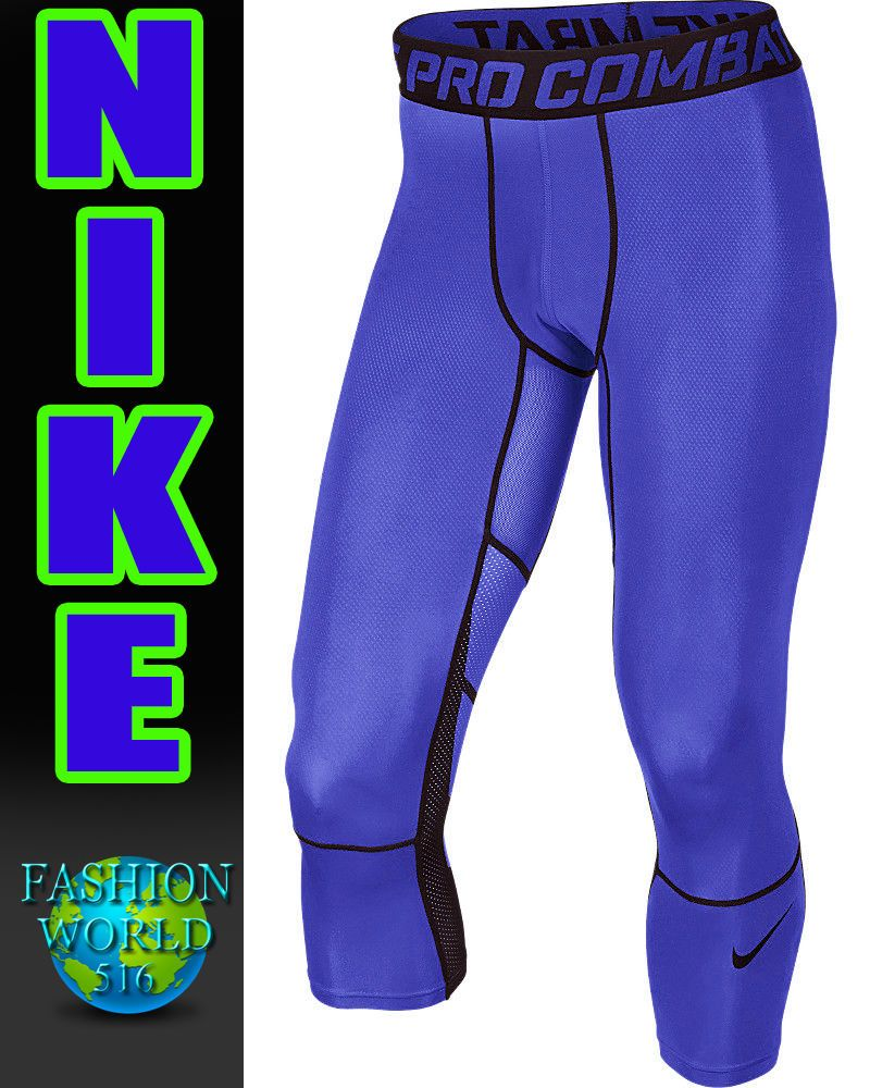 261f704fa242e Nike Men's Hypercool 3/4 Compression Tights Pant 636161-480 Size Medium # Nike #Pants