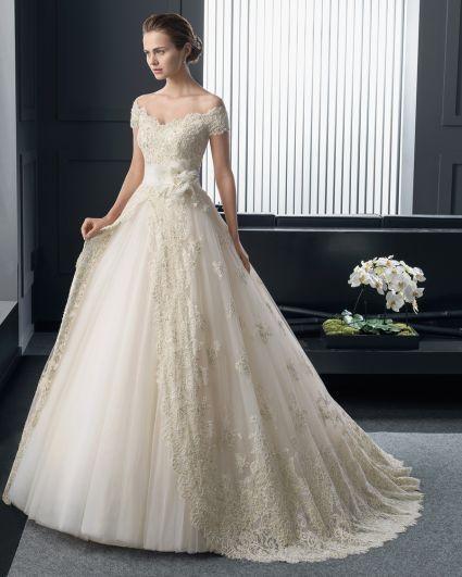 vestidos de novia elegantes corte princesa - buscar con google | mi
