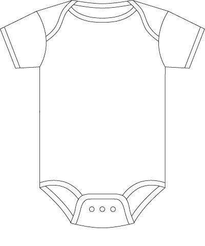 Onesie Template for Baby Predictions Baby Shower Baby onesie