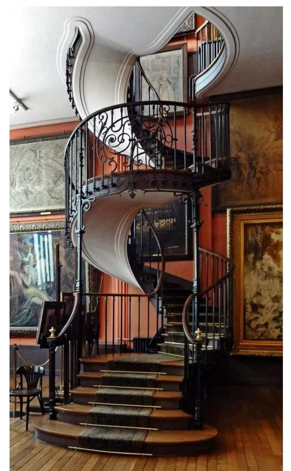 Best A Wrought Iron Spiral Staircase That Looks Like A Ribbon 400 x 300