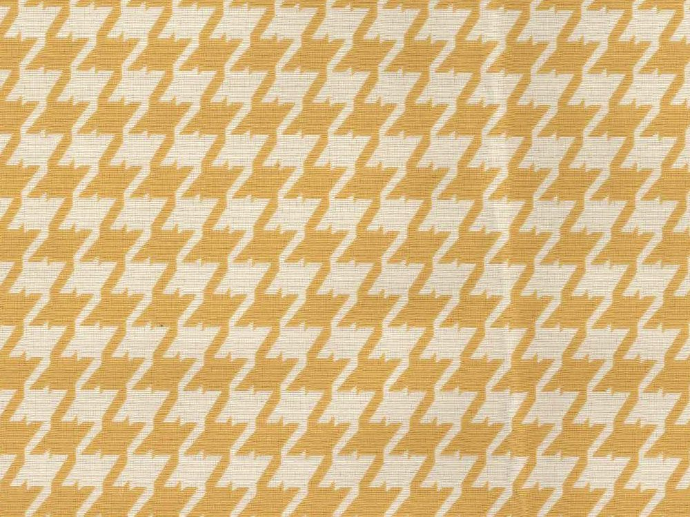 Greek Collection Houndstooth Yellow Upholstery Fabric Ships