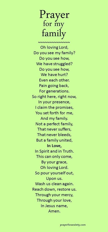 Family Prayer Quotes Pinterest