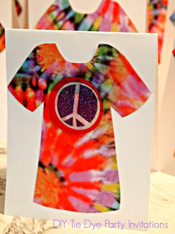 diy tie dye party invitations my inner hippie pinterest tie