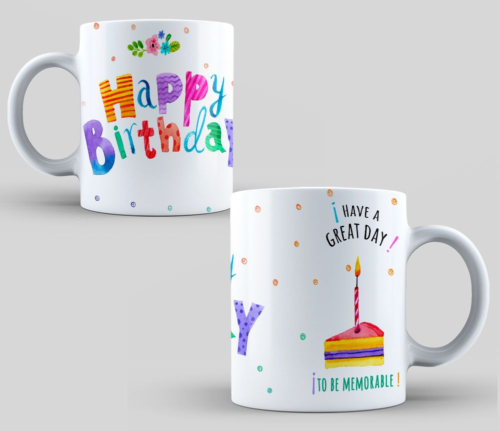 design sublimation mugs happy birthday sublimation template birthday gift birthday mug. Black Bedroom Furniture Sets. Home Design Ideas