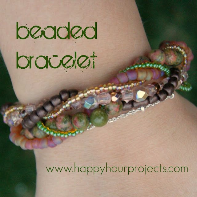 Happy Hour Projects: Beaded Bracelet