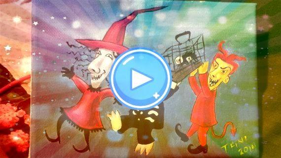 Shock and Barrel Alptraum vor Weihnachten Lock Shock and Barrel Alptraum vor Weihnachten Lock Shock and Barrel Alptraum vor Weihnachten SUNSHINE   Original mixed media pi...