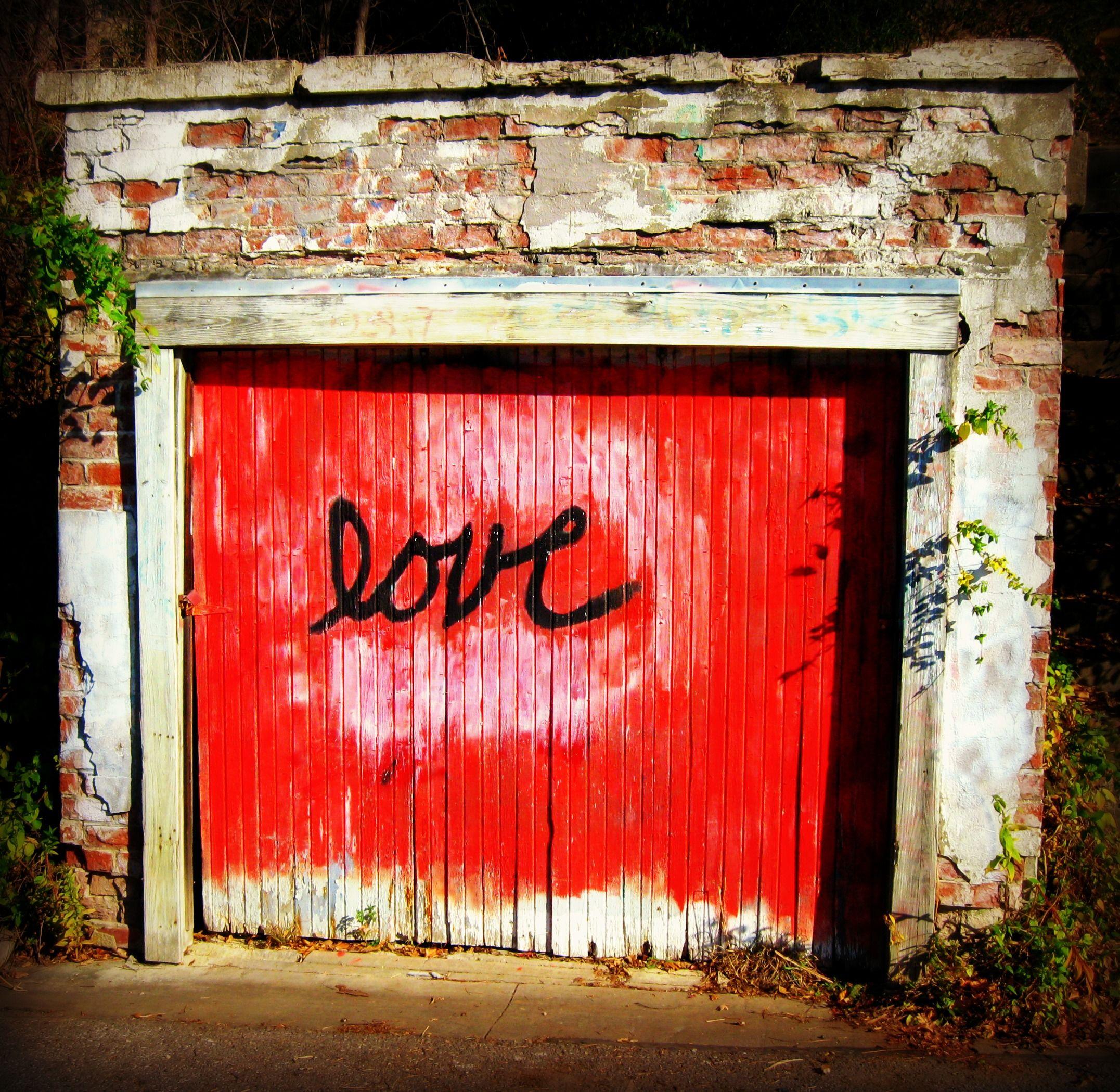 Grafitti On Garage Door Lawrence Ks