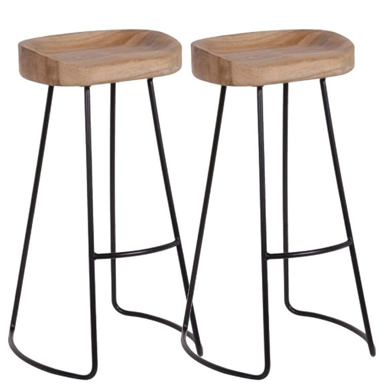Interior Marvelous Metal Bar Stools With Wood Top From The