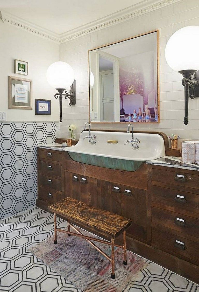 57 Elegant Eclectic Bathroom Design Ideas Eclectic Bathroom Design Eclectic Bathroom Vintage Bathroom Decor