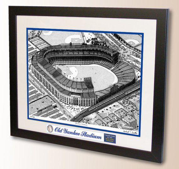 Pin On Pen Ink Baseball Stadium Art