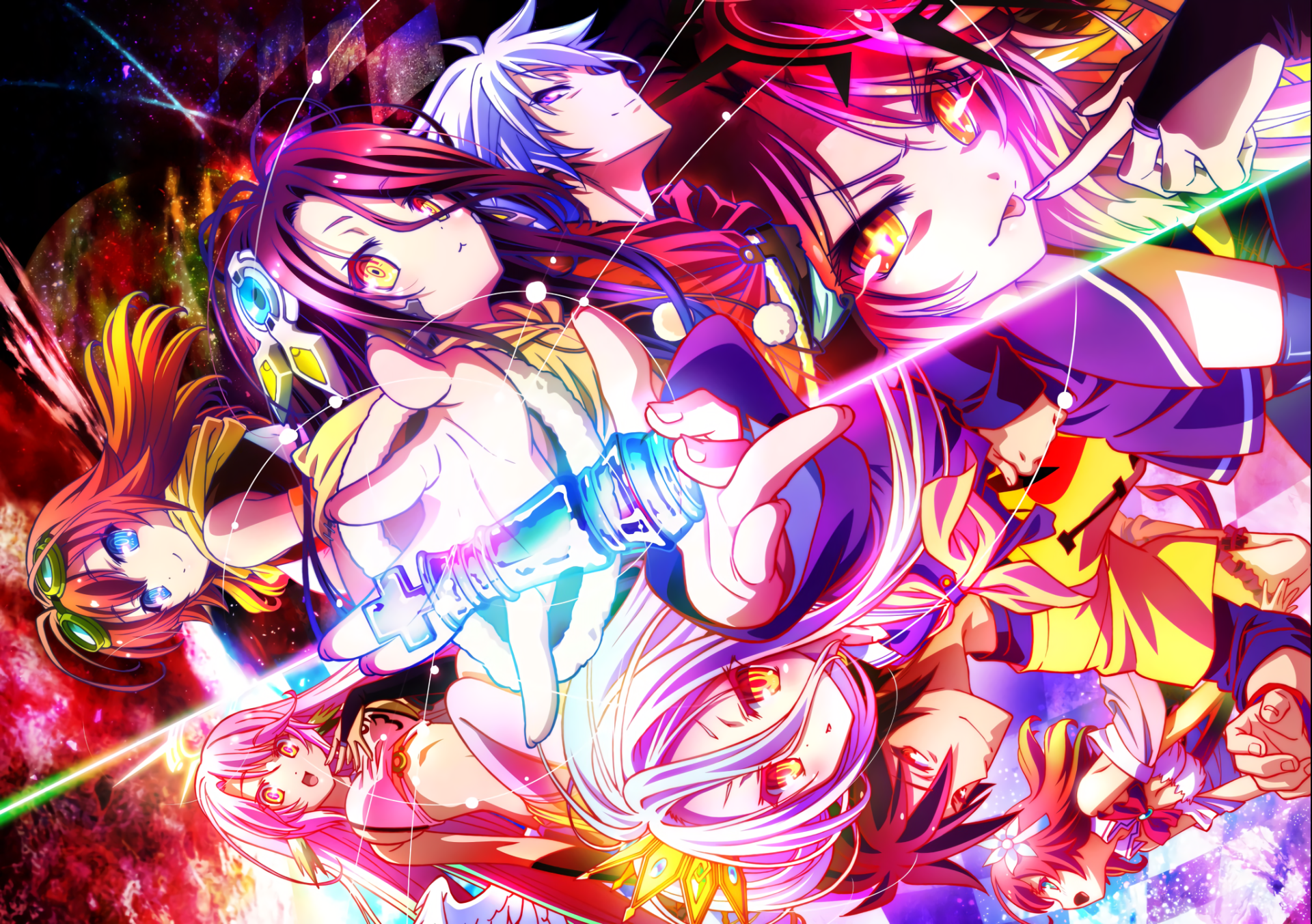 Anime No Game No Life Stephanie Dola Riku Dola Shuvi Dola Jibril No