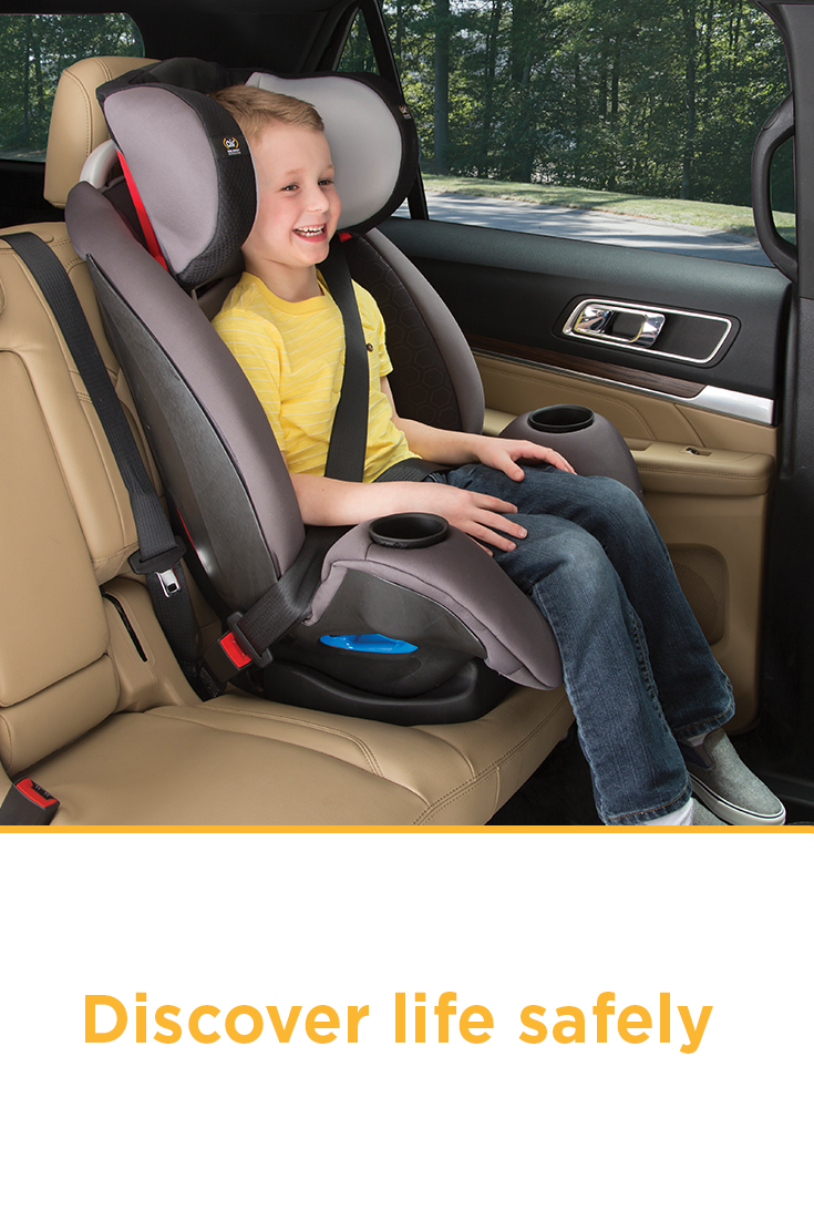 From your infant car seat to a child booster, Safety 1st