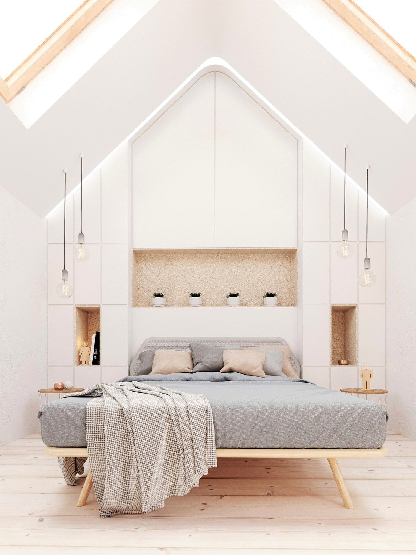 White bedroom 3ds Max Corona render