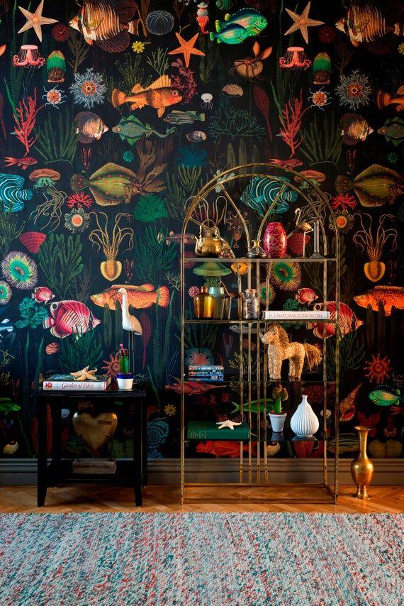 European designer wallpaper / wallcovering panel -