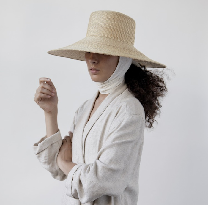 Wide Brim Flat Top Hat: Remodelista