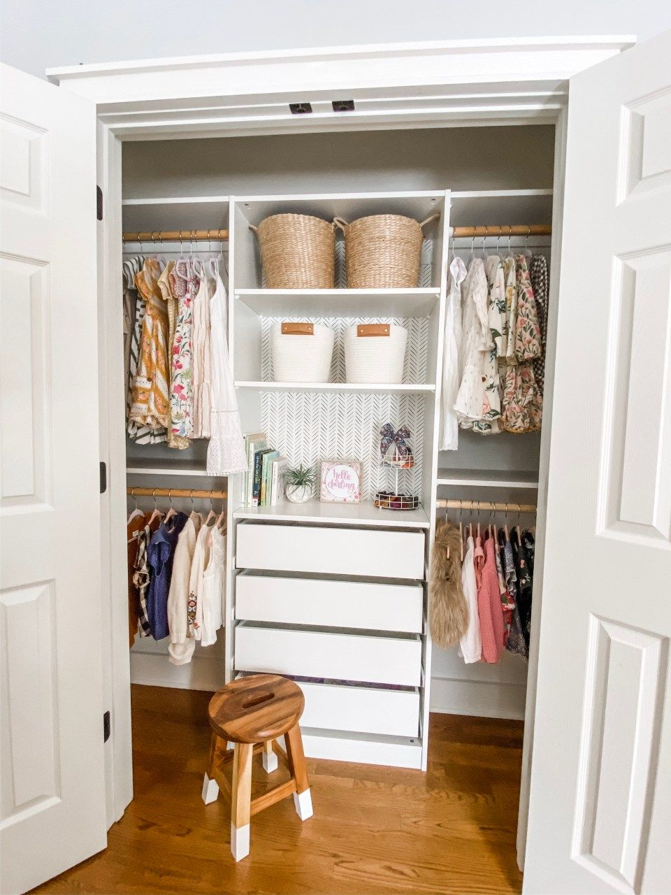 Small Closet Makeover – Ikea Pax Hack