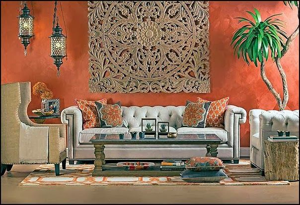Moroccan Style Living Room Decor Peach Color Decorating Ideas Theme Bedroom