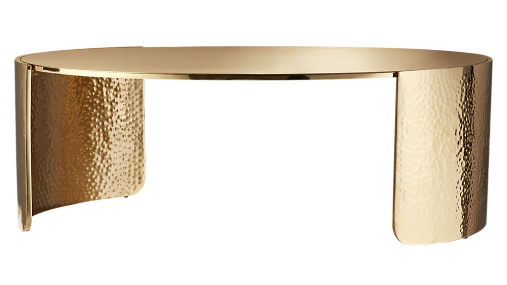 Cuff hammered gold coffee table gold coffee table