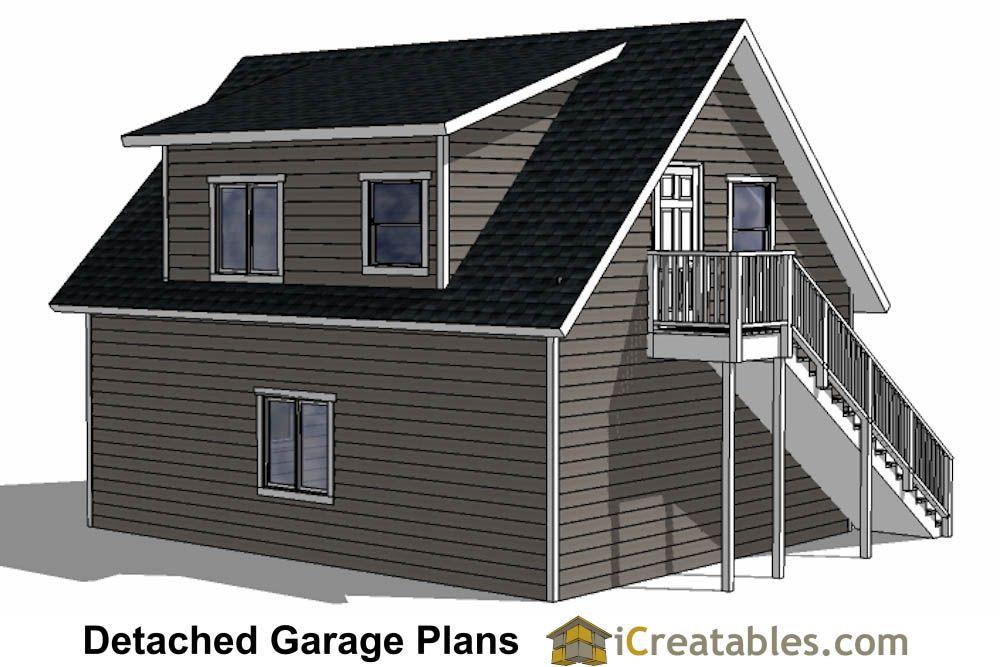 24x28 garage plans with apartment rear – 24X28 Garage Plans