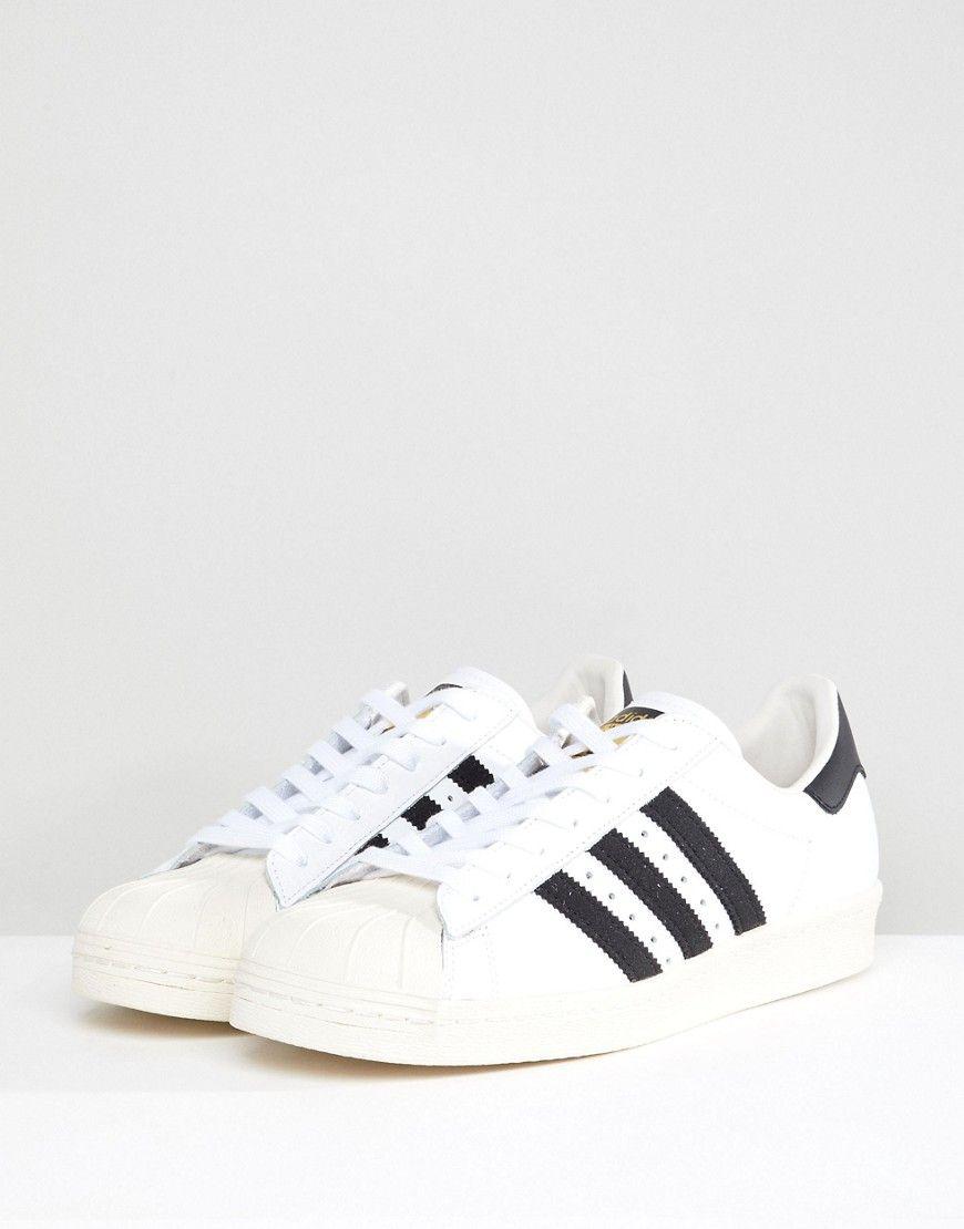 Superstar 80s Trainers In White G61070 - White adidas Originals DII4moI1BK
