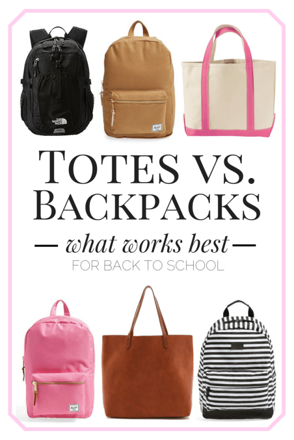 Totes Vs Backpacks What Works Best In College