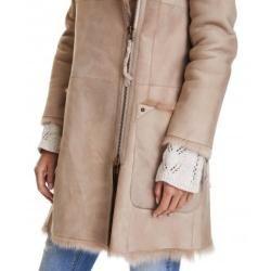 Carla whisky Lammfell Jacke für Damen von Trendzone TrendzoneTrendzone #zippertop