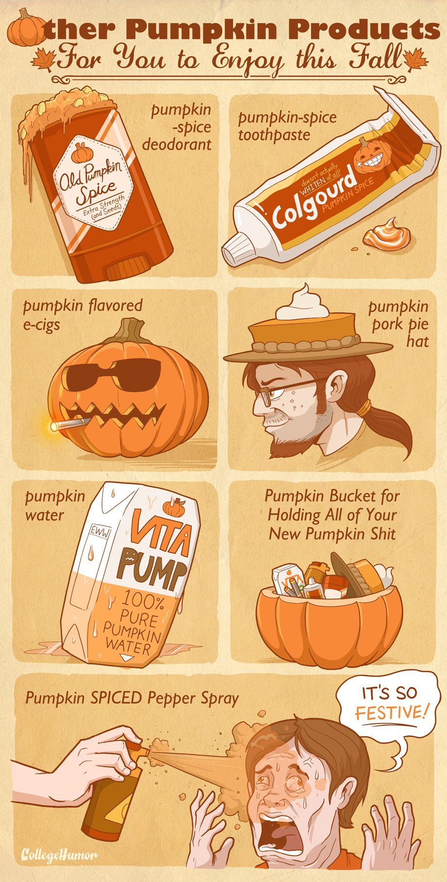 Collegehumor Pumpkin Spice Pumpkin Flavor Some Jokes
