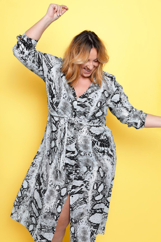 maxikleid mit schlangendruck | festliche kleider, kleider