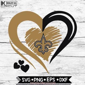 Download New Orleans Saints Love Svg, Heart New Orleans Saints Svg ...