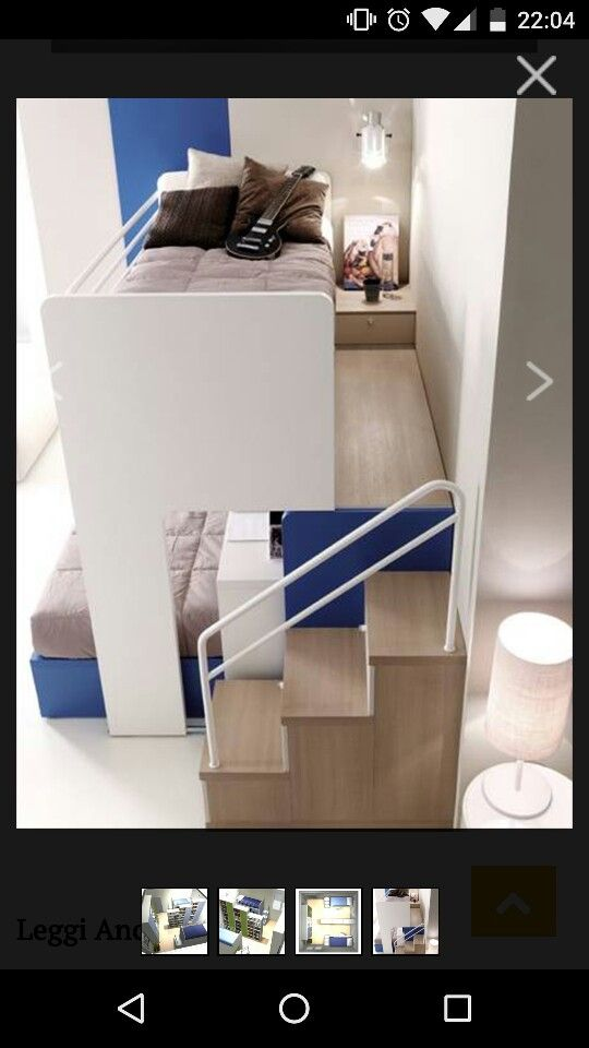 Photo of Bunk bed with desk