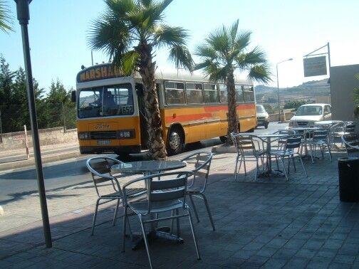 Malta Bus Outside The Hotel In Qawra Malta Bus Malta Favorite Places