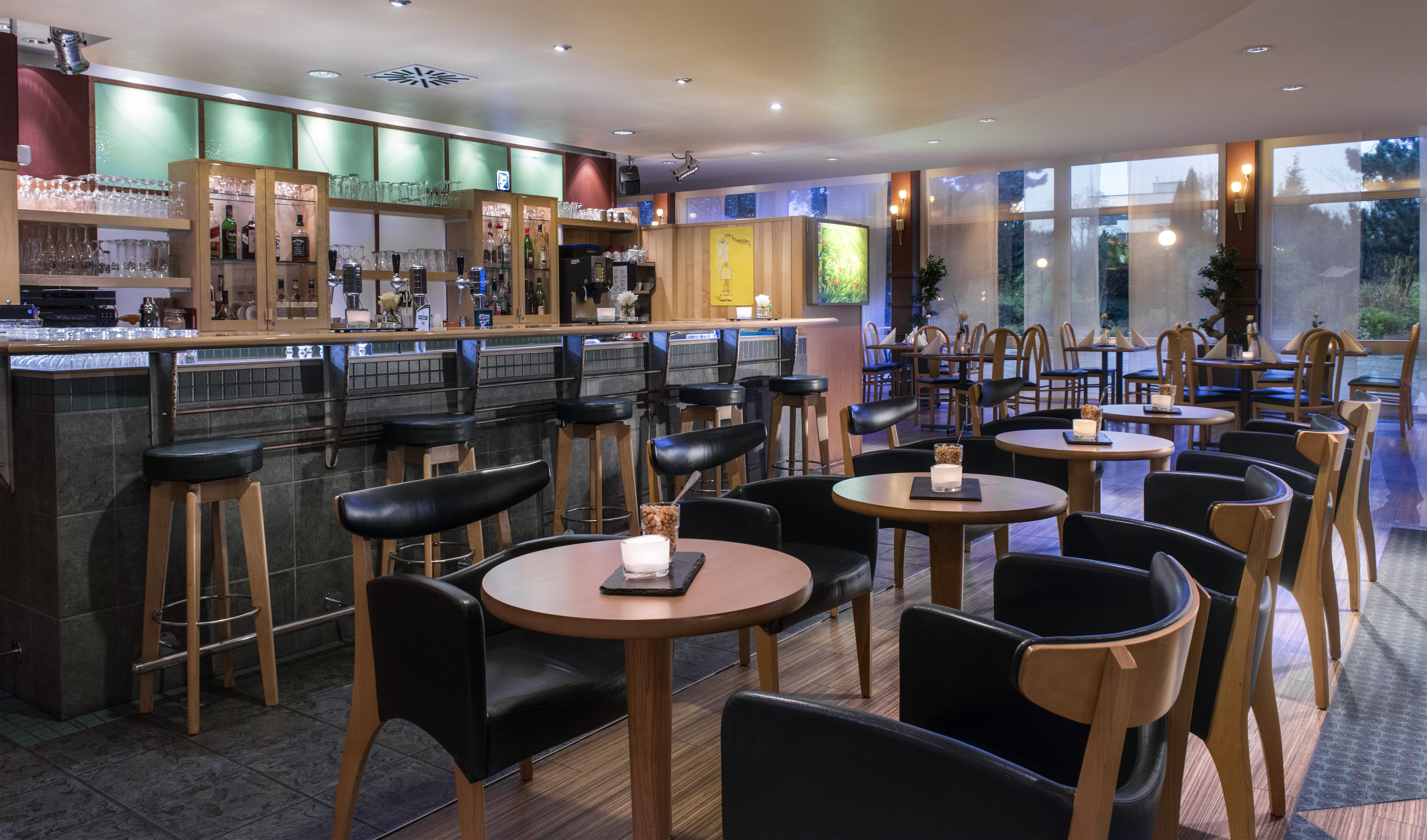 In House Dortmund savoury dishes snacks and beverages are served in the hotel s in