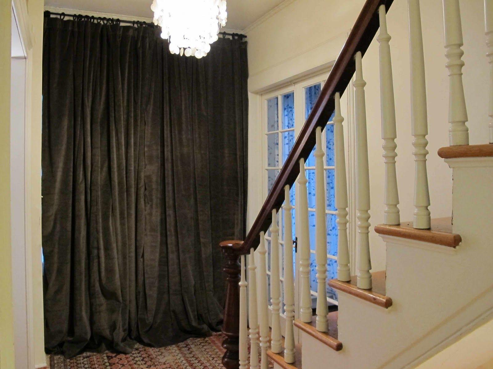 Entry Foyer Drapes Draft Curtain Velvet From Alfie Makes Five
