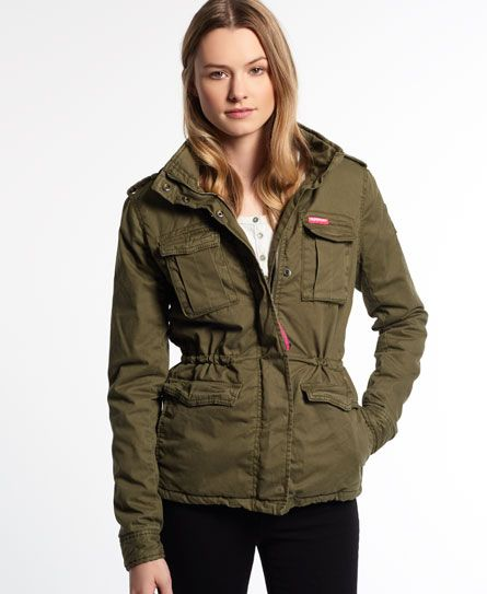 0211e11aadbdc Superdry Winter Rookie Military Jacket | FW 2015 shopping | Jackets,  Military jacket women, Jackets for women