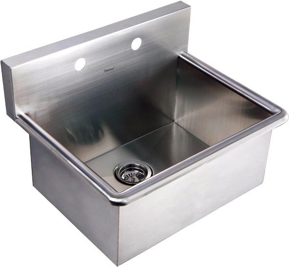 Whitehaus Stainless Steel Drop In Or Wall Mount Commercial Utility Sink Whnc2520 With Pre Drilled Holes For A W Stainless Steel Utility Sink Sink Utility Sink