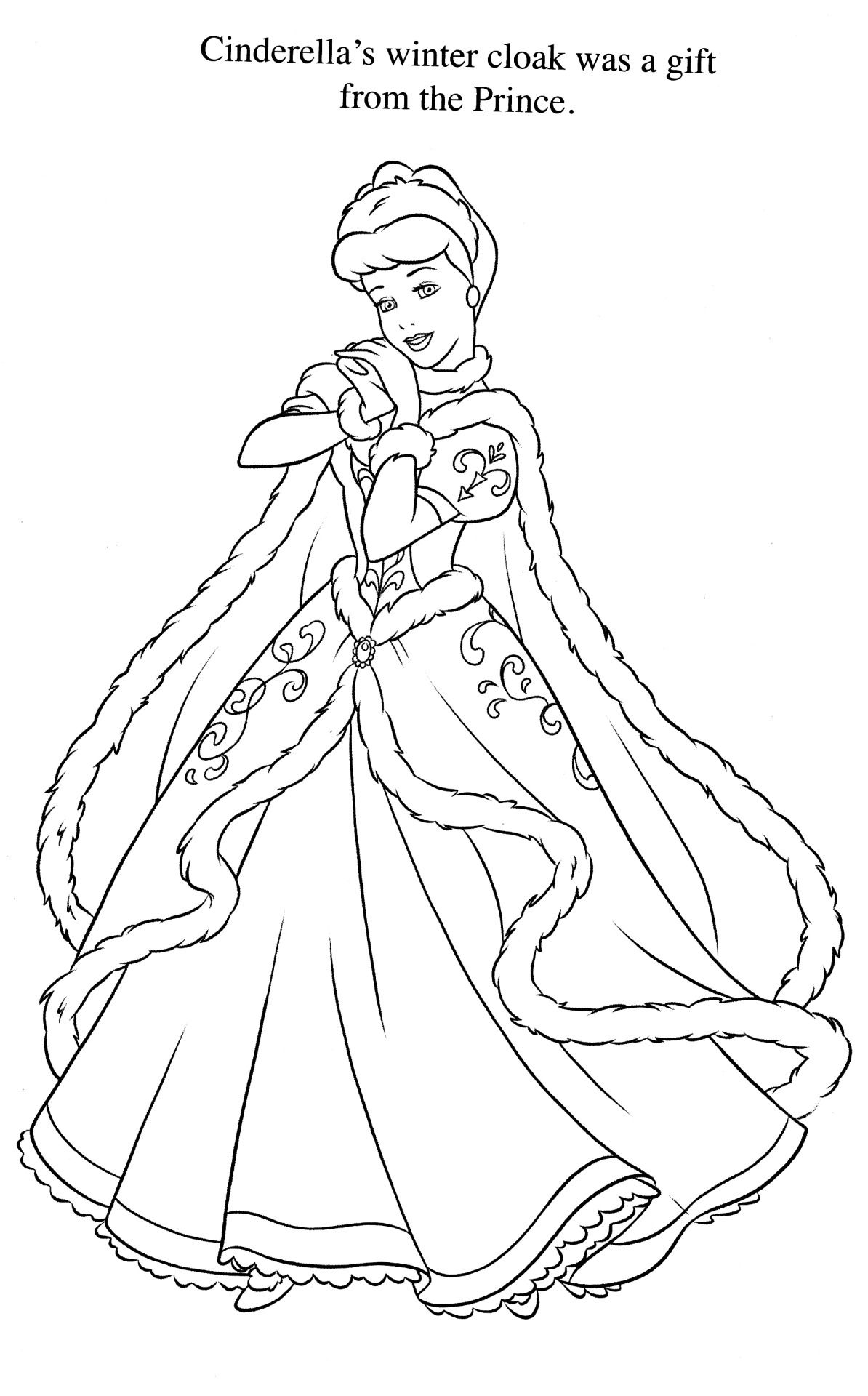 Coloriage Cendrillon Cinderella Coloring Pages Disney