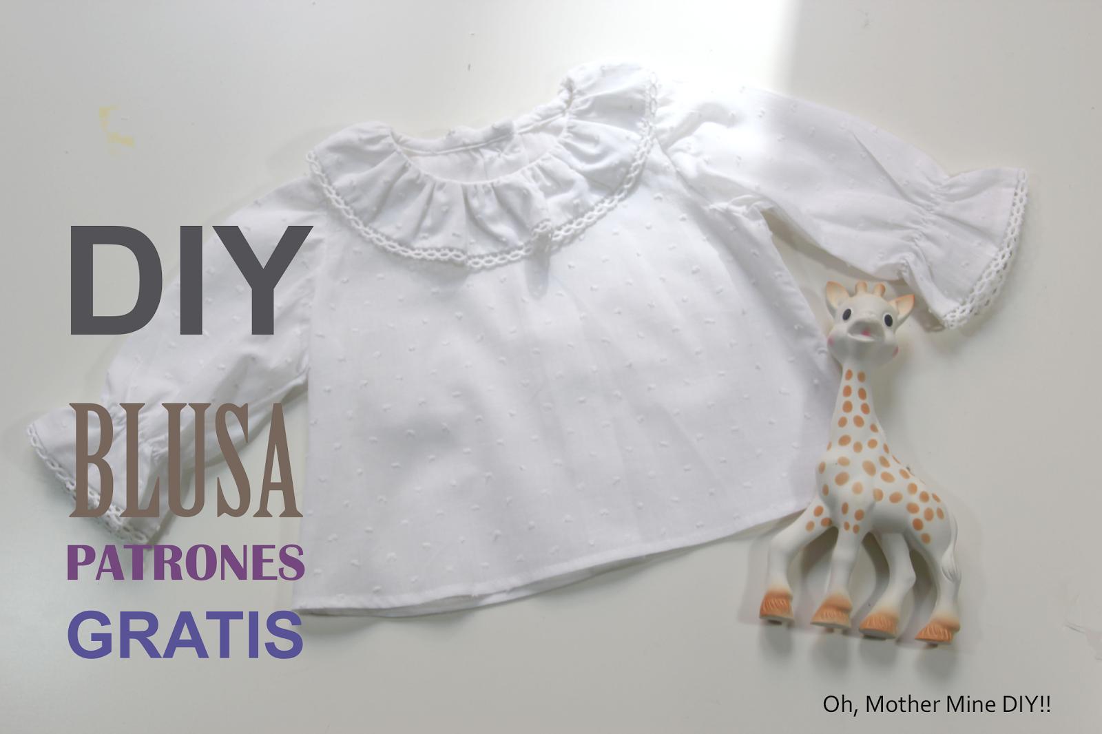 DIY Como hacer blusa para bebe (patrones gratis) | Entre costuras ...