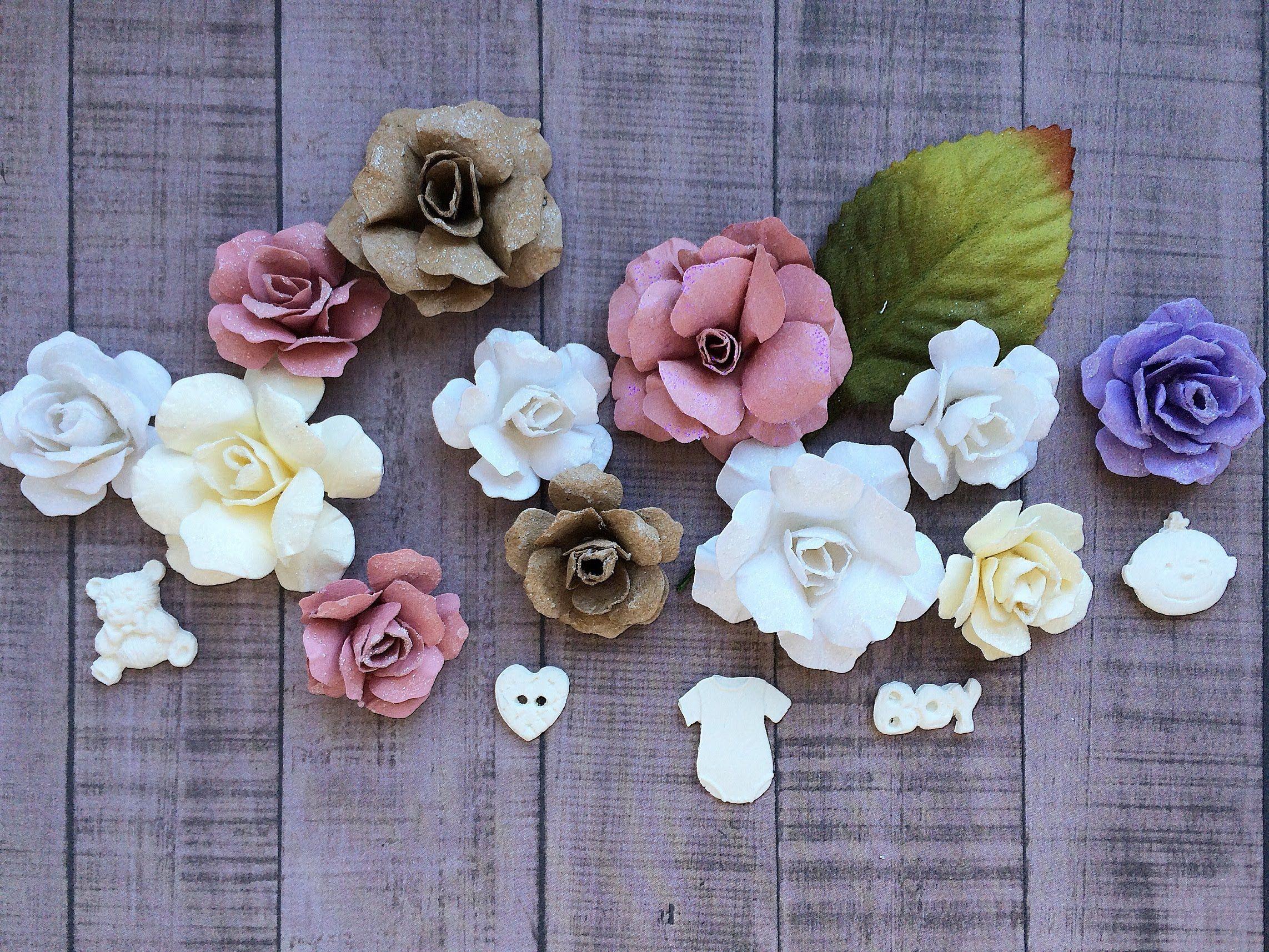 Как сделать цветок из бумаги скрапбукинг фото 32