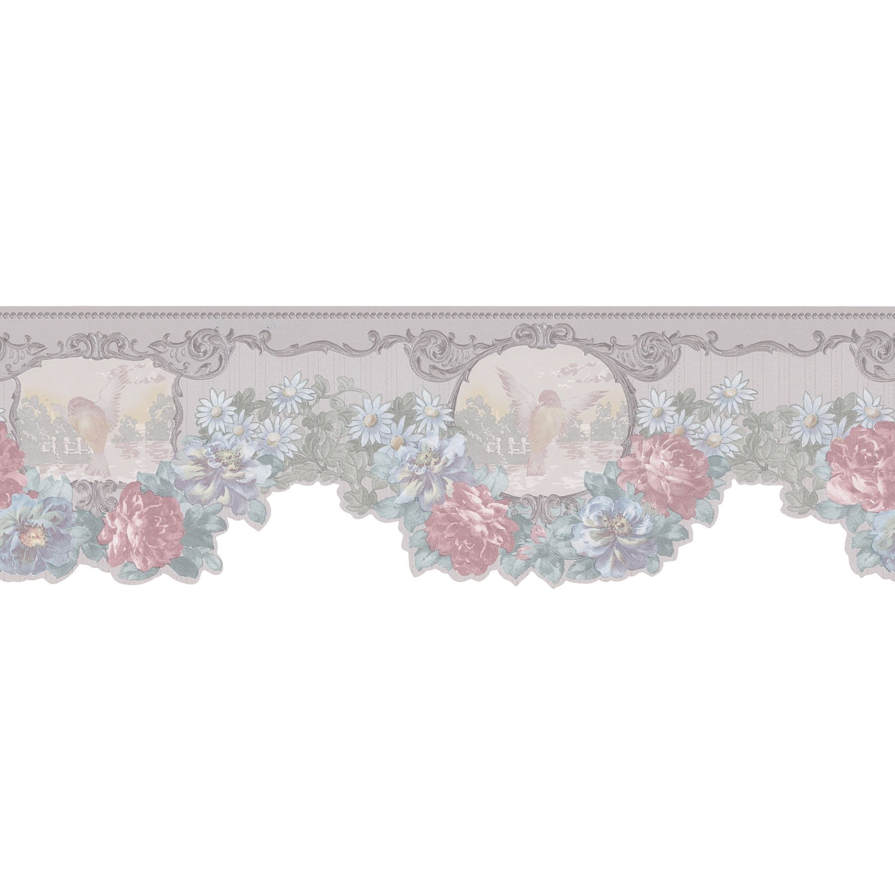This gorgeous floral wallpaper border will bring effortless beauty