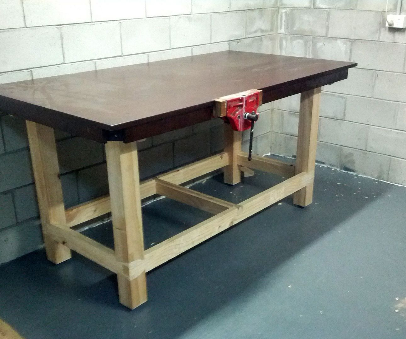 Workbench With Reclaimed Tabletop Workshop Pinterest Workshop