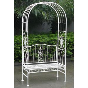 Enjoyable Charles Bentley Wrought Iron Shabby Chic Outdoor Garden Arch Squirreltailoven Fun Painted Chair Ideas Images Squirreltailovenorg