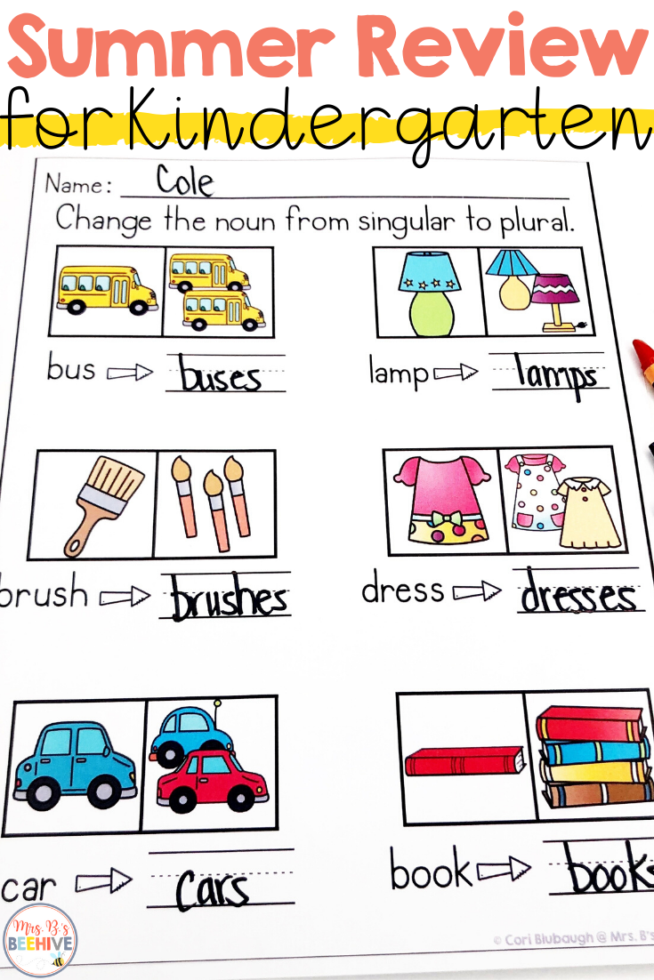 Summer Review For Kindergarten Kindergarten Names Cvce Words Student Skills [ 1102 x 735 Pixel ]