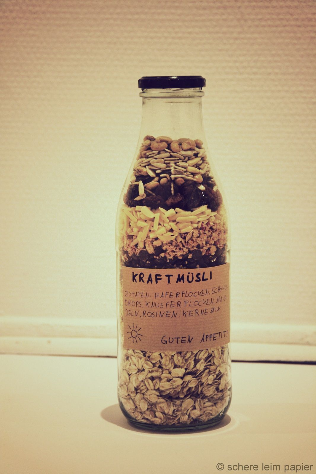 Geschenk in letzter Minute: Müsli in der Flasche | DIY Gift ...